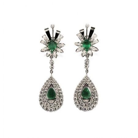 "Pendants d'oreilles ""Green Crown"""