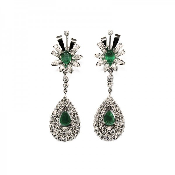 "Pendants d'oreilles ""Green Crown"""