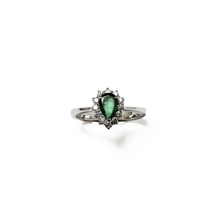 "Bague ""Green Pear"""